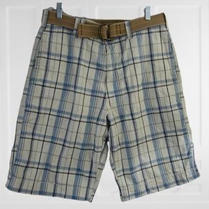 American Eagle Outfitters men shorts plaid sz 32